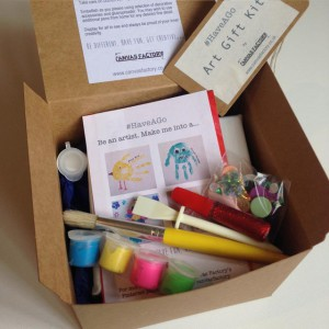 Little Hands #HaveAGo hand print Art Kit