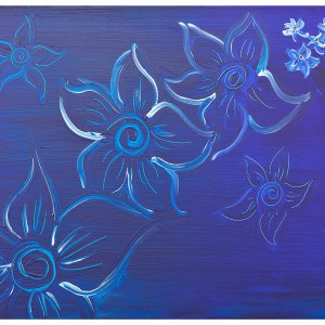 Forget Me Not original canvas
