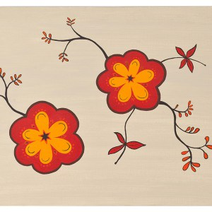 Hedgerow Blooms canvas