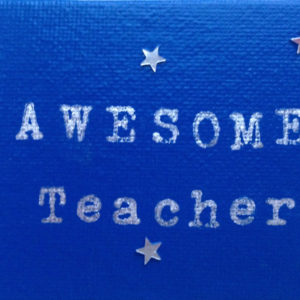 Awesome Teacher Canvas Fridge Magnet