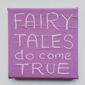 Fairy Tales Wise Words canvas - lavender purple