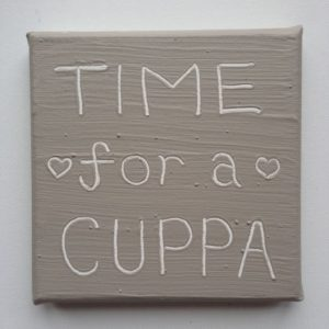 Cuppa Wise Words canvas - iced mocha