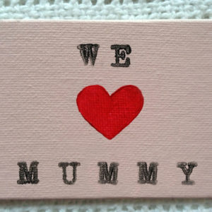 We Love Mummy Fridge Magnet - Pastel Pink
