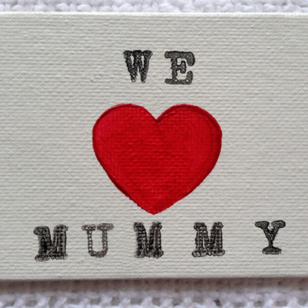 We Love Mummy Fridge Magnet - Antique White