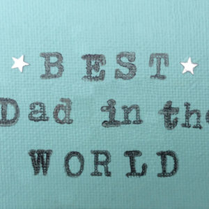 Best Dad Fridge Magnet - Aqua Green
