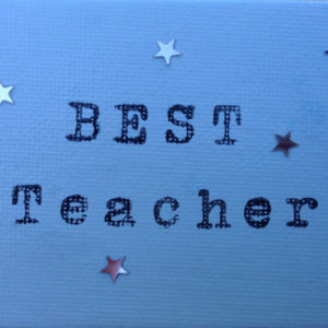 Best Teacher Fridge Magnet - Sky Blue