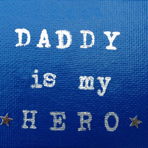 Super Hero Dad Fridge magnet - Royal Blue
