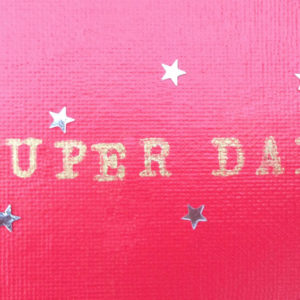Super Dad Fridge magnet - Raspberry Red