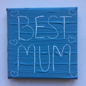 Best Mum Wise Words Canvas - Cool Grey