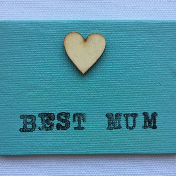 Best Mum Canvas Fridge Magnet - Aqua Green