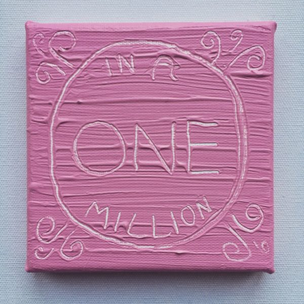 One Million Wise Words Canvas - pastel pink